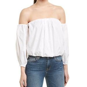 NWT 7 For All Mankind Puff Sleeve Top